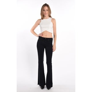 Woven High Res Flare Jeans in Ink