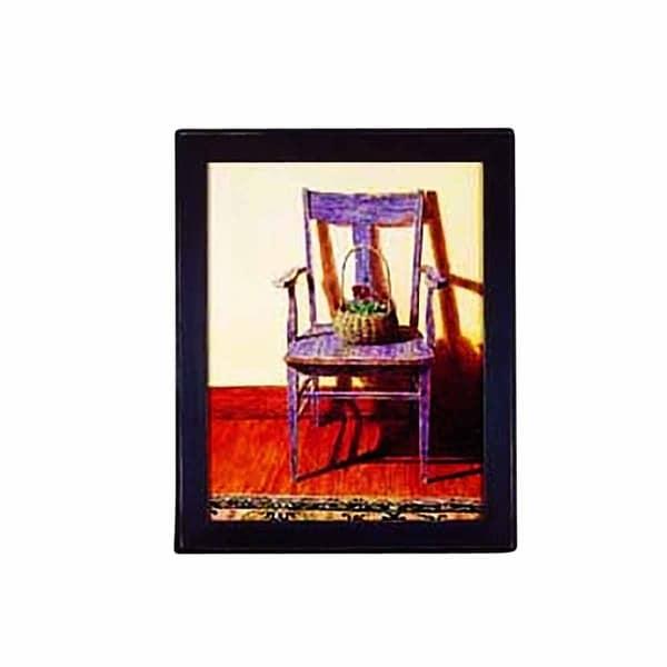 Framed Print Blue Chair 24 x 29.5 Wall Art