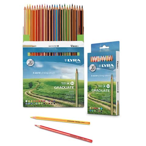 Graduate Colored Pencils, Cardboard Box of 24