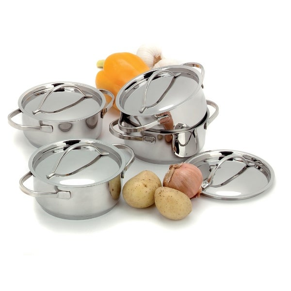 Demeyere Resto 4-pc Stainless Steel Mini Dutch Oven Set - STAINLESS STEEL
