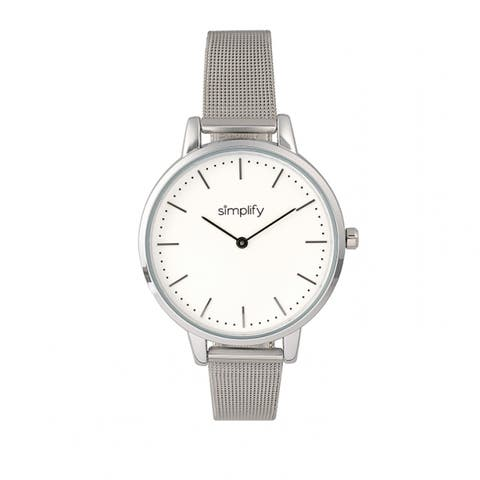 Simplify The 5800 Unisex Quartz Watch, Stainless Steel Band