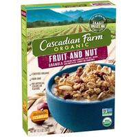 Cascadian Farm Organic Granola - Fruit and Nut - Case of 6 - 13.5 oz.