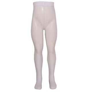 Golden Legs Girls White Stretchy Soft Comfort Footed Tights