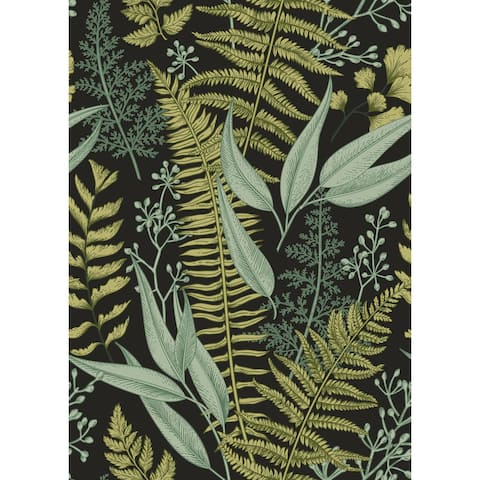 "Ferns Botanical Wallpaper Peel and Stick Wallpaper - 25""W x 200""H"