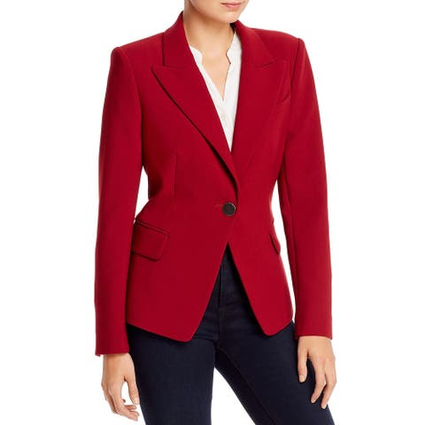 Kobi Halperin Womens Dylan One-Button Blazer Double-Breasted Office - Cadmium