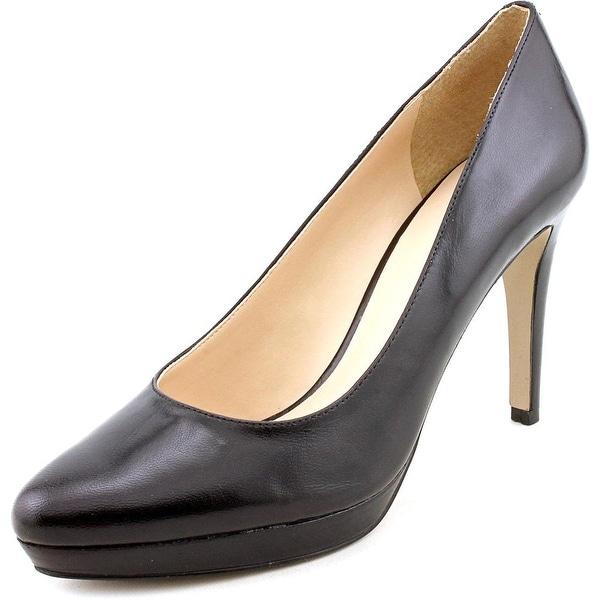 Nine West Beautie Women  Open Toe Leather Black Platform Heel
