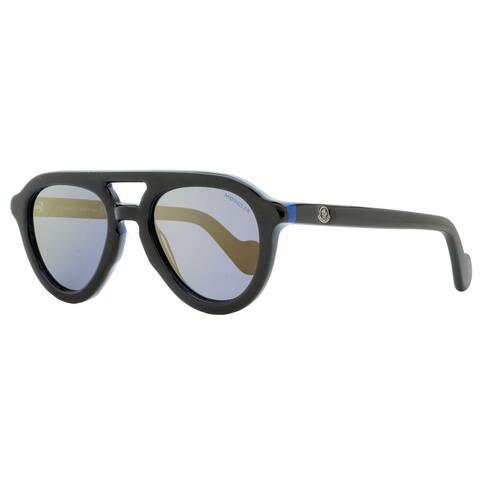 Moncler ML0078 05D Unisex Black/Blue 52 mm Sunglasses