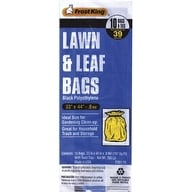 "Thermwell P201/10 Lawn And Leaf Bag, 10 Bag, 33"" x 44"" x .8Mil, Black"