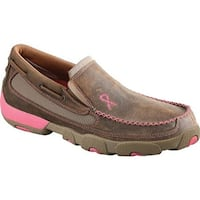Twisted X Boots Women's WDMS003 Driving Moc Slip On Bomber/Pink