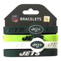 New York Jets NFL Silicone Rubber Wrist Band Bracelet Set of 4
