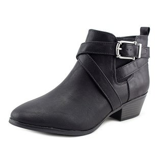 Style & Co Harperr Round Toe Leather Ankle Boot