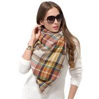"""Women Plaid Blanket Shawl Scarf for Fashion Wear & Winter - 56"""" x 56"""""""