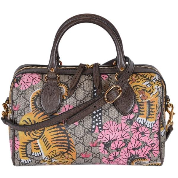 e67cb0ab7b7f3a Gucci Women's 409529 SMALL GG Supreme Bengal Tiger Convertible Boston  Bag -