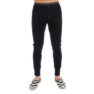 Dolce & Gabbana Dolce & Gabbana Black 100% Cashmere Winter Underwear Pants