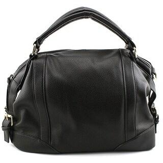 Hynes Eagle Luxury Hobo Women Faux Leather Black Satchel