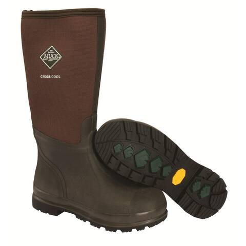 Muck Boot CHCT900-7 Chore Cool Hi Work Boot, Brown, Unisex - 7 Men/8 Women