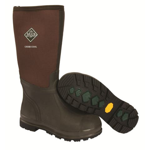 Muck Boot CHCT900-9 Chore Cool Hi Work Boot, Brown, Unisex - 9 Men/10 Women