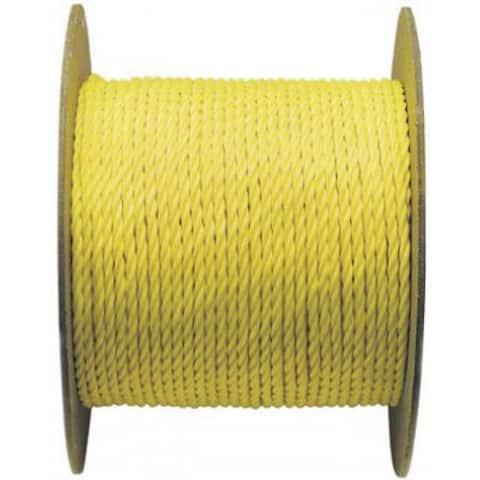 """Wellington 15019 Polypropylene Rope, 3/8"""" x 600', Yellow"""