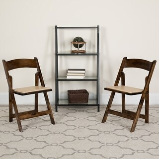 Link to 2 Pack HERCULES Series Wood Folding Chair with Vinyl Padded Seat Similar Items in Home Office Furniture