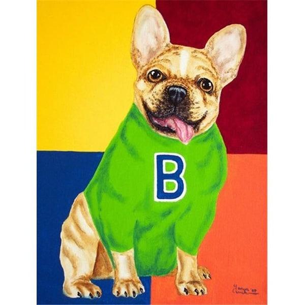Carolines Treasures French Bulldog Go Team Flag Canvas House Size