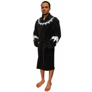 4d886d752a Marvel Universe Mens Black Panther Fleece Costume Bathrobe