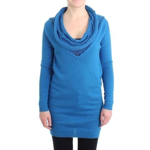 Costume National Blue scoopneck Women's sweater