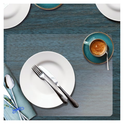 """Hometex® Clear Placemats with Anti-Slip Backing (Set of 4) - 12""""x18"""""""