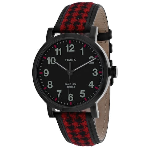 Timex Men's Houndstooth Black Dial Watch - TW2P98900 - One Size