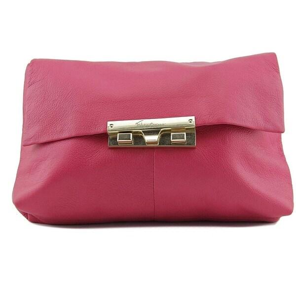 Foley + Corinna Bea Clutch Cross Body Bag Women Leather Messenger - Pink