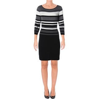 Lauren Ralph Lauren Womens Petites Dalina Sweaterdress Combed Scoop Neck