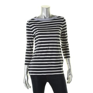 Tommy Hilfiger Womens Pullover Top Jersey Striped - m