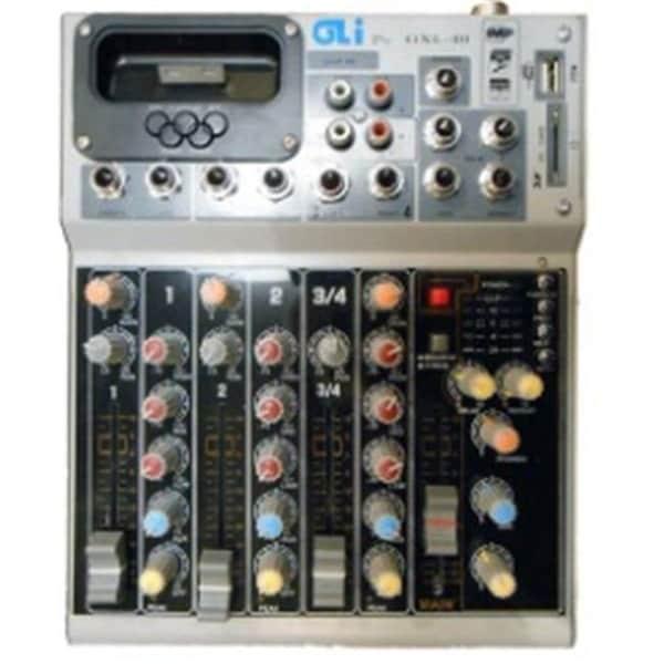 GLI GXL-40 4-Channel Studio Mixer with iPod Dock