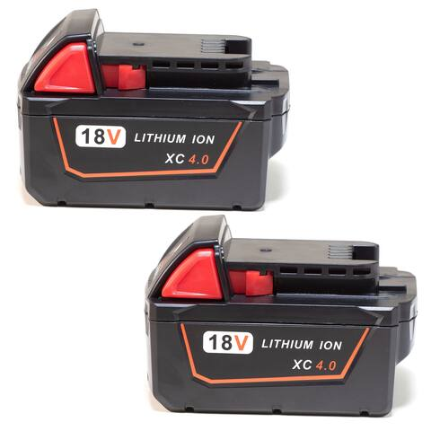 Replacement Battery For Milwaukee M18 XC Power Tools - 48-11-1840 (4000mAh, 18V, Li-Ion) - 2 Pack