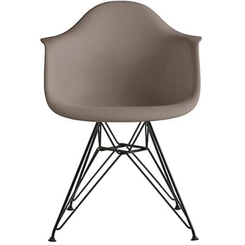 Designer Plastic Armchair Black Eiffel Black Wire Chrome Legs For Dining Chair Molded With Arms Kitchen Desk