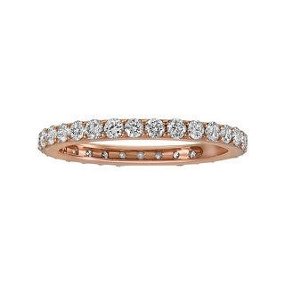 Link to 14k Rose Gold 1ct TDW Diamond Ladies Eternity Band Ring by Beverly Hill Charm - White H-I - White H-I Similar Items in Wedding Rings