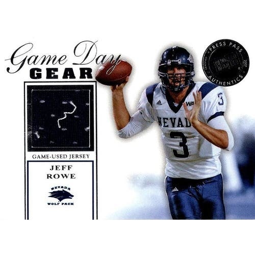 Shop Signed Rowe Jeff Nevada Wolf Pack Jeff Rowe 2007 Press Pass Game Day Gear Unsigned Football Jersey Overstock 20206583