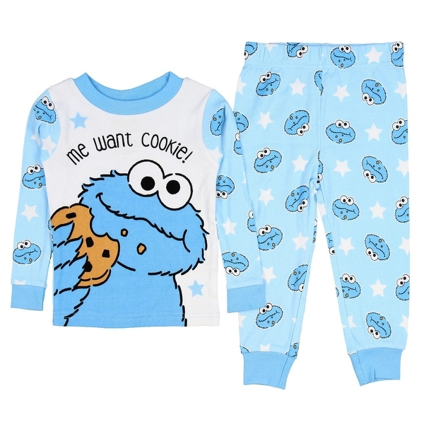 080bfcb37 Shop Sesame Street Baby Boys' Cookie Monster Me Want Cookie 2 PC Pajama Set  - Free Shipping On Orders Over $45 - Overstock - 18821092