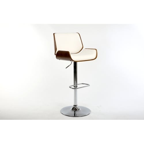 Bromi Design BF2660 Dempster 44-1/4 Inch Tall Adjustable Leather Bar Stool