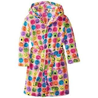 Up Past 8 Girls Fleece Short Robe - XS