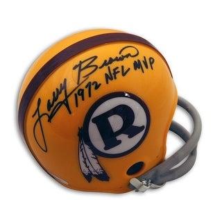 Autographed Larry Brown Washington Redskins Mini Helmet Inscribed 1972 NFL MVP