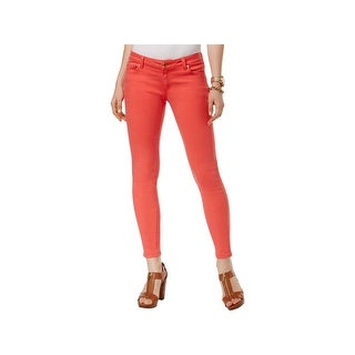 MICHAEL Michael Kors Womens Izzy Skinny Jeans Cropped Mid-Rise