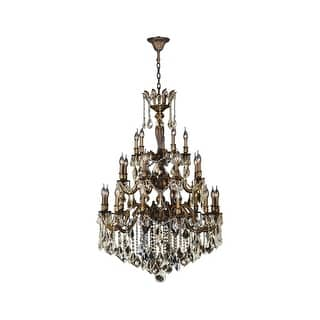 Worldwide Lighting W8335236 Versailles 25 Light 36 Wide Chandelier With Crystal Accents