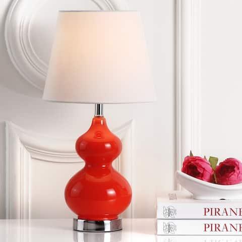 SAFAVIEH Kids Lighting 19-inch Eva Orange Double Gourd Mini Table Lamp - 0