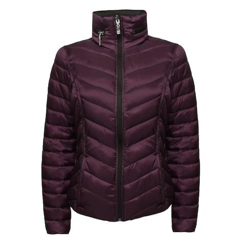 HFX Women's Reversible Lightweight Packable Jacket, Bordeaux