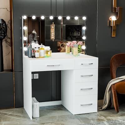 Boahaus Saranya Dressing Table, Light Bulbs