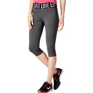 Material Girl Womens Juniors Athletic Leggings Graphic Fitness