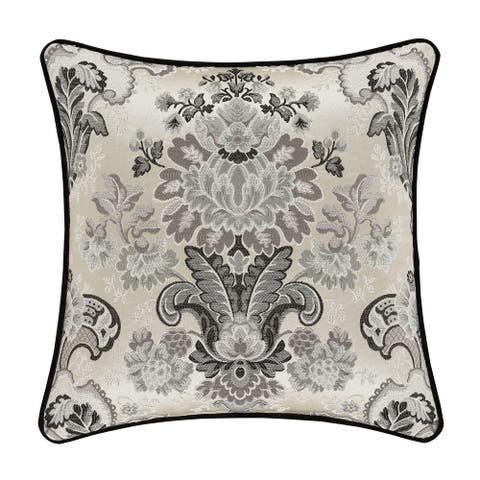 Five Queens Court Anita 18 Inch Square Decorative Throw Pillow