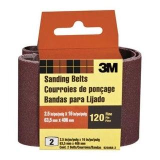 "3M 9250NA-2 Sanding Belts 2 1/2""x16"", 120 Grit, Fine"