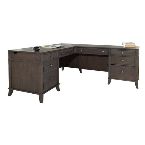 Hekman Home Office Executive L-Shape Desk