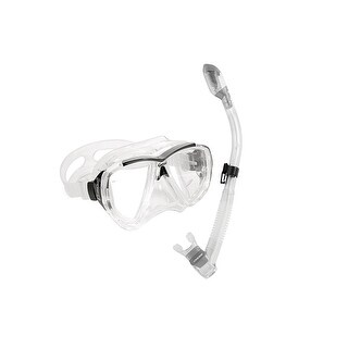 Cressi Unisex-Adult Big Eyes / Dry Combo Mask Snorkel Combo Clear